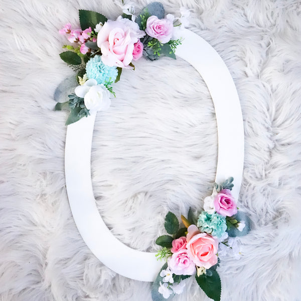 "Flower Letter, 16"" 20"" 24"" Letter, Boho Letter, Floral Letter, Baby Shower Letter Wedding Letter, Nursery Wall Art Boho Nursery Decor"