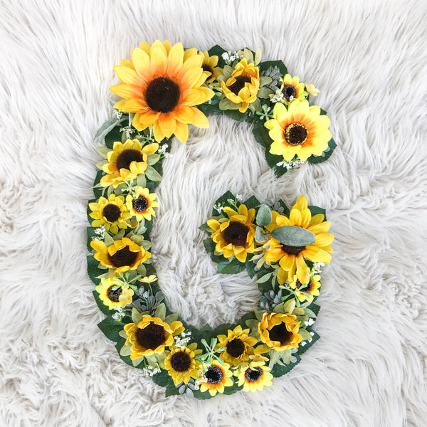 nursery wall art, hanging wall art, birthday table centerpieces, baby shower decor, wedding flower decor, first birthday party, cake smash photos, birthday photo prop, baby milestone photos, and personalized gift, sunflower decor, sunflower birthday decor, sunflower letter, sunflower nursery decor, girl nursery decor, flower letter, floral letter, sunflower nursery name, sunflower baby shower, bridal shower decor, first birthday decor, 1st birthday girl, first birthday, sunflower first birthday, birthday gi