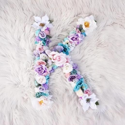 Kids Bedroom Hanging Wall Decor, Flower Letter for Kids Room, Floral Toddler Decor, Flower Wall, Girl Toddler Bedroom Decor