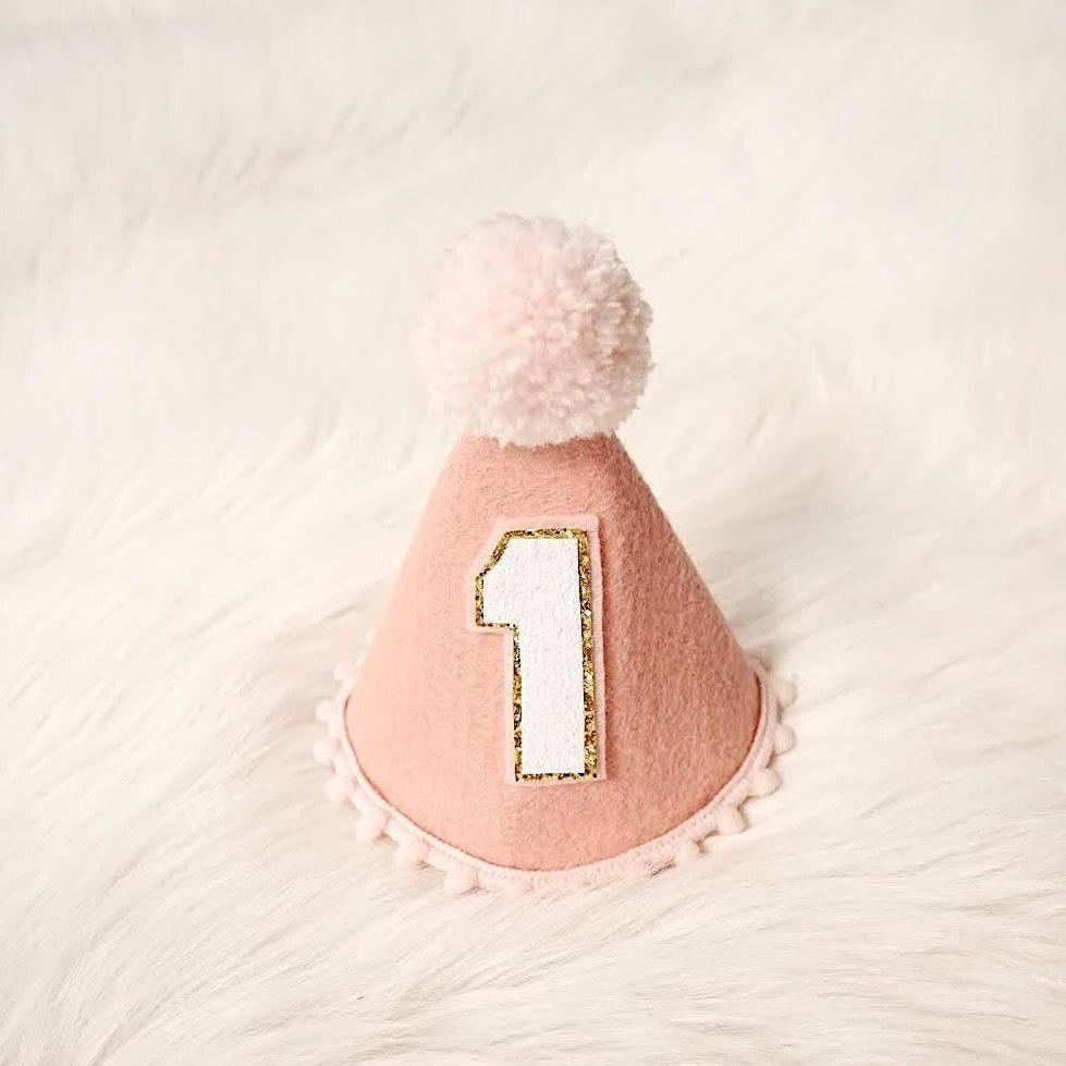 First Birthday Girl Hat, 1st Birthday Girl, First birthday hat girl, 1st Birthday Hat Girl, 1st Birthday Girl Outfit, Rose Gold Birthday Girl, rose gold crown, rose gold outfit, blush pink