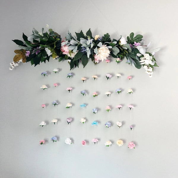 Wedding Flower Wall For Wedding, Wedding Floral Backdrop, Floral Hanging Wall Art, Boho Wedding Decor, Bridal Shower Decor, Engagement
