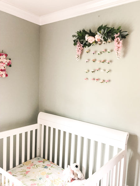 flower wall nursery decor, floral decor, toddler bedroom decor, kids bedroom decor, flower centerpiece, floral decor art, floating flower wall, wedding decor