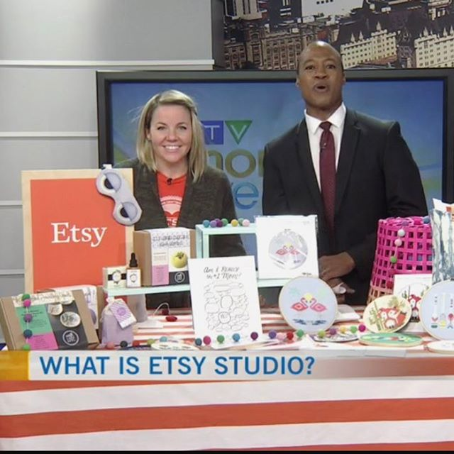 So we can all agree I could use a stylist, but the clip is up and I think I covered all the bases. Get to know @etsystudio stat! Thanks to @ctvottawamorninglive for having me!! http://ottawa.ctvnews.ca/mobile/video?clipId=1119164
