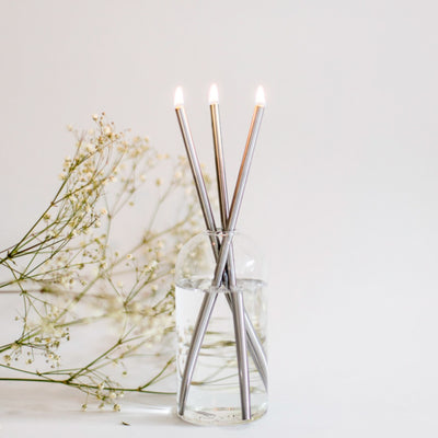Everlasting Candle / Silver Candlesticks