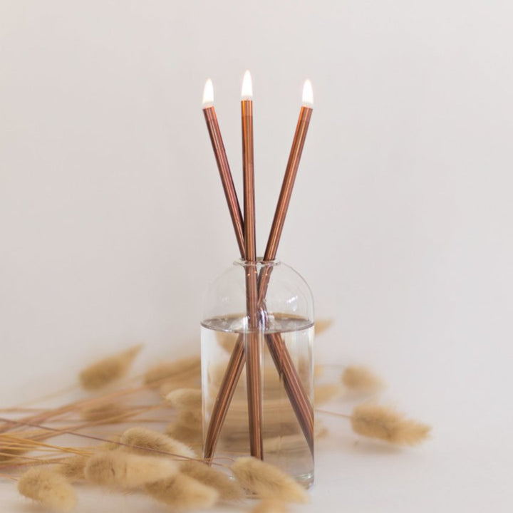 Everlasting Candle / Copper Candlesticks