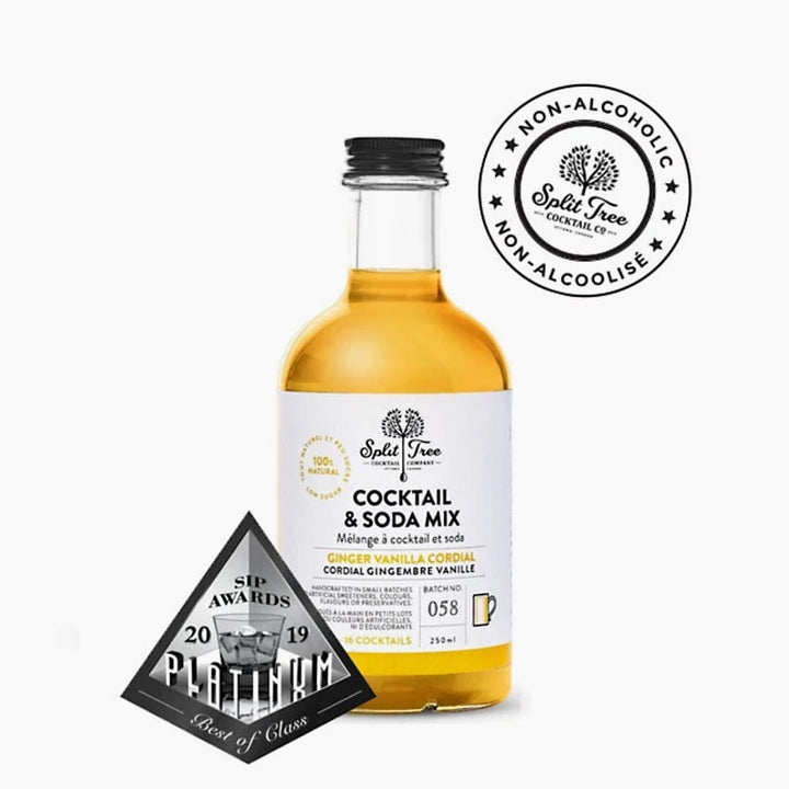 Split Tree Ginger Vanilla Cordial Natural Cocktail and Soda Mix
