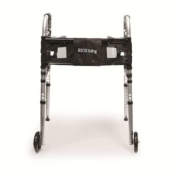 BIOS Living Deluxe Folding Lightweight Walker with Wheels