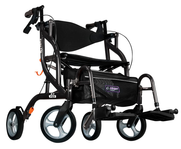Airgo Fusion F23 Side-Folding Rollator & Transport Chair
