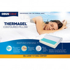 Obusforme Thermagel Memory Foam Contour Pillow