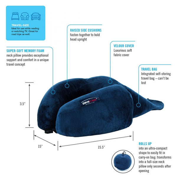 Ultra Compact Roll-Up Travel Neck Pillow