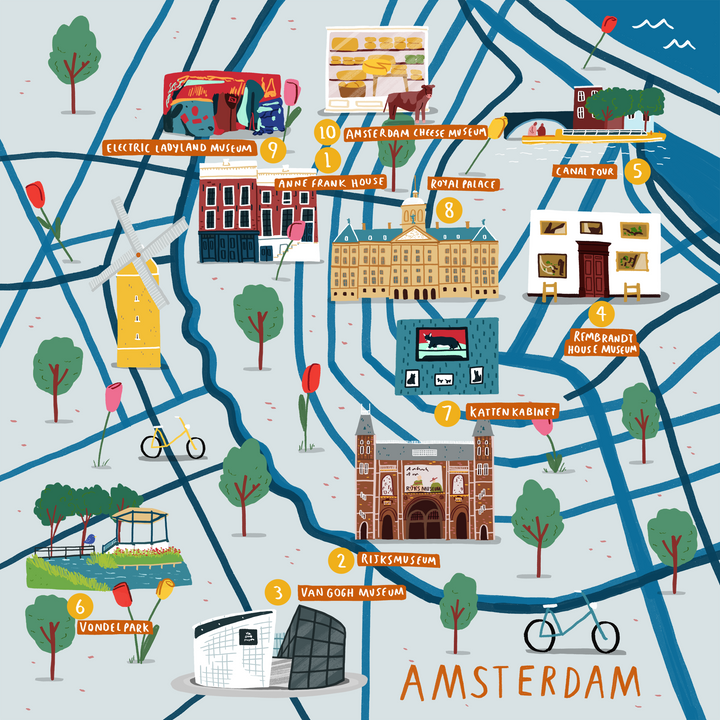 How To Doodle A Cities Of Wonder Map — Amsterdam