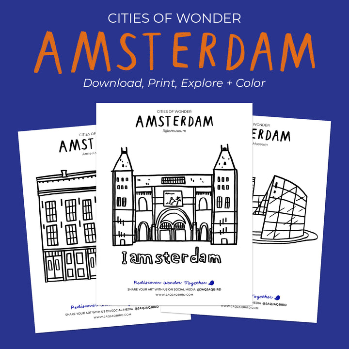 Cities of Wonder Downloadable Coloring Set - Amsterdam
