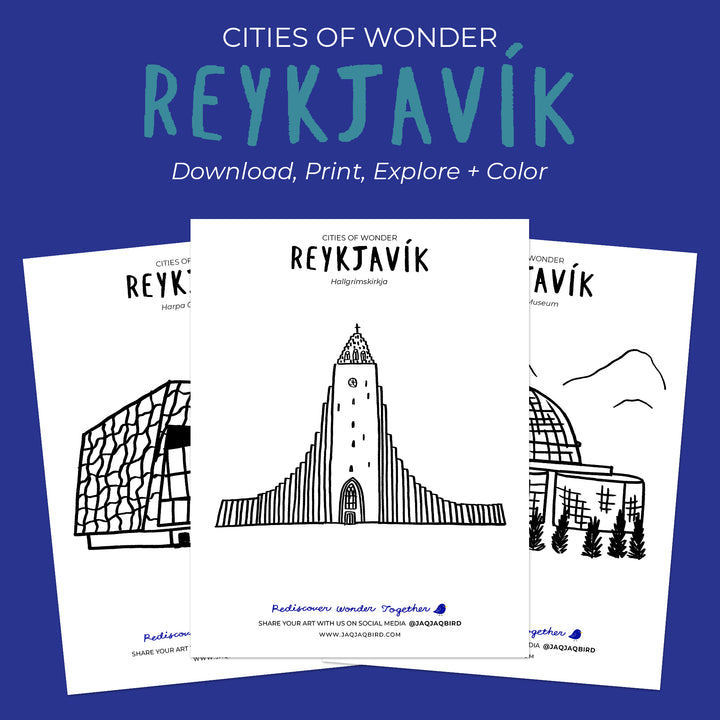 Cities Of Wonder Downloadable Coloring Set - Reykjavík