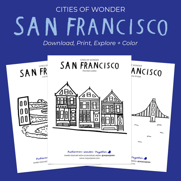 Cities Of Wonder Downloadable Coloring Set - San Francisco