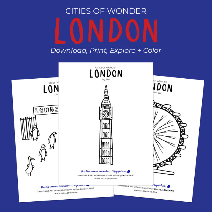 Cities Of Wonder Downloadable Coloring Set - London