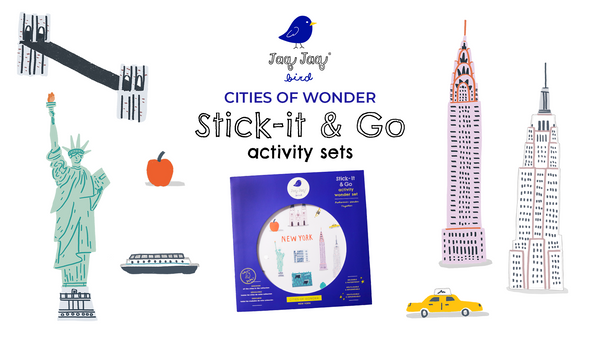 Cities of Wonder Stick-It & Go Activity Sets — New York
