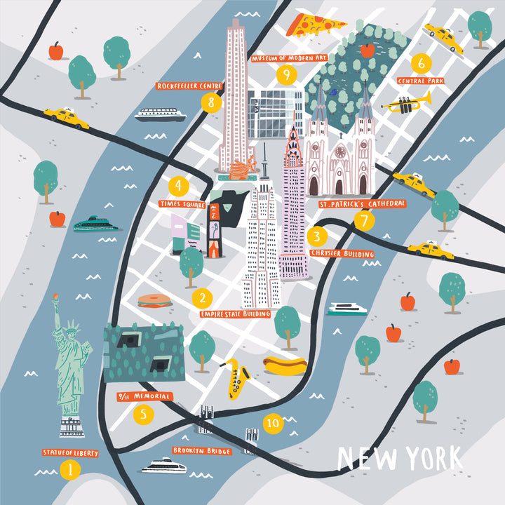 How To Doodle A Cities Of Wonder Map — New York