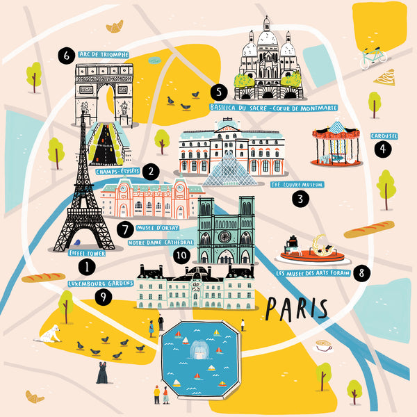 How To Doodle A Cities Of Wonder Map — Paris