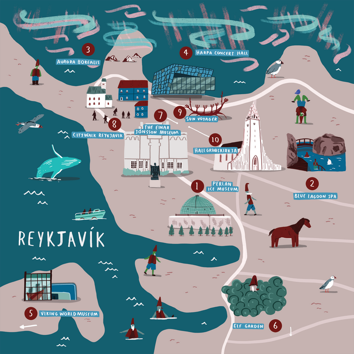 How To Doodle A Cities Of Wonder Map — Reykjavík