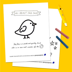 All About Jaq Jaq Coloring Book