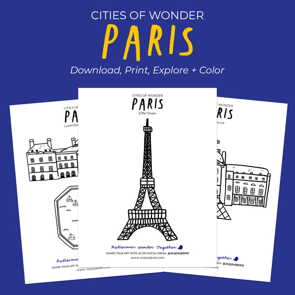 Cities Of Wonder Downloadable Coloring Set - Paris