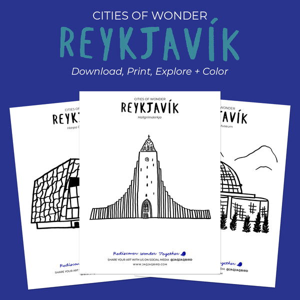 Free Cities of Wonder Downloadable Coloring Sheets - Reykjavik