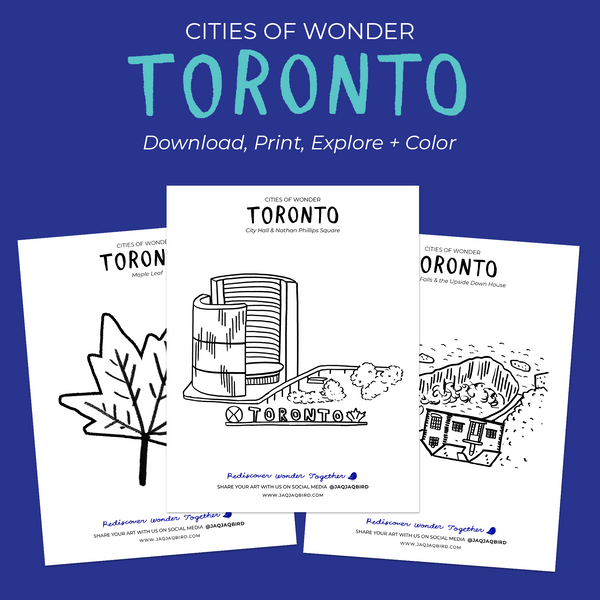 Toronto Cities of Wonder Downloadable Coloring Pages