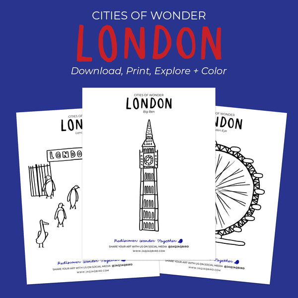 Cities of Wonder Free Downloadable Coloring Set - London