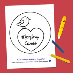 Jaq Jaq Cares Coloring Page