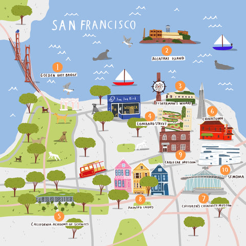 How To Doodle A Cities Of Wonder Map - San Francisco