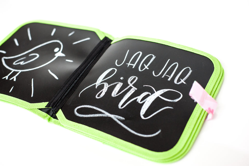 chalk doodle book with butterstix
