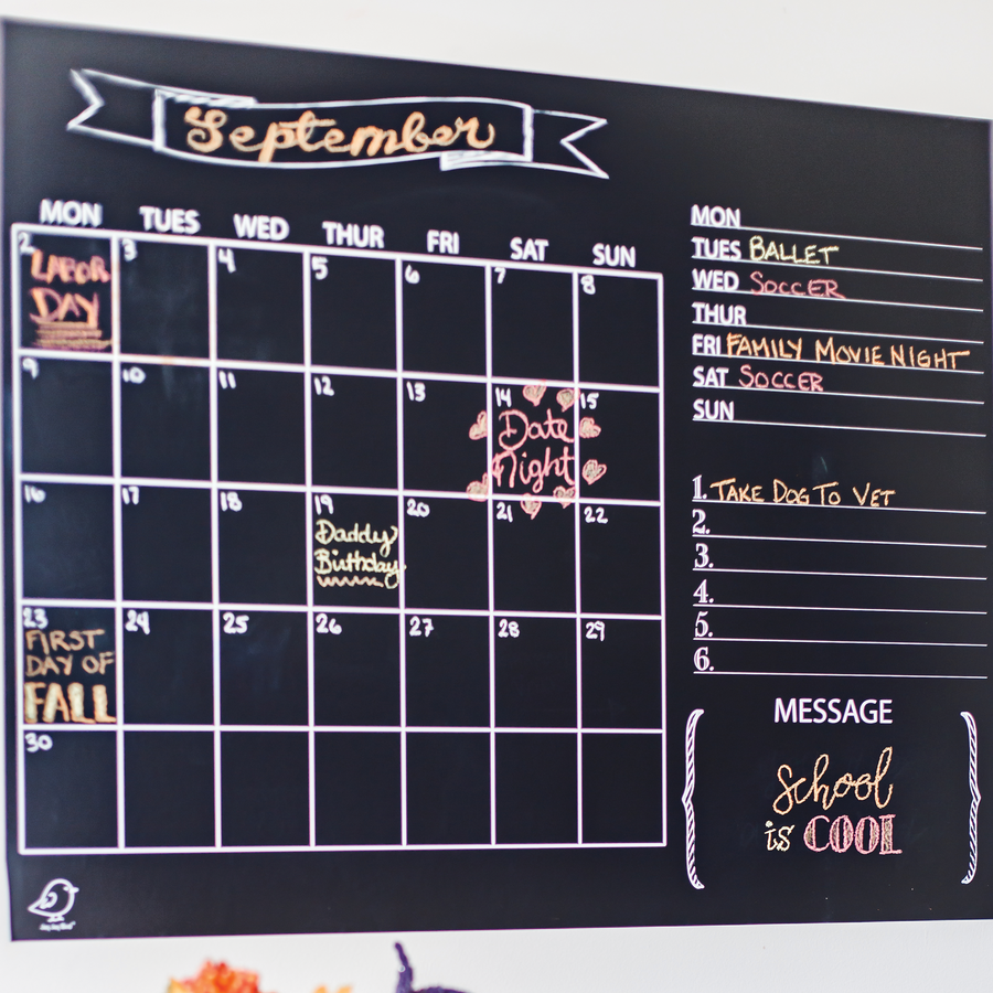 Reusable Calendar Decal