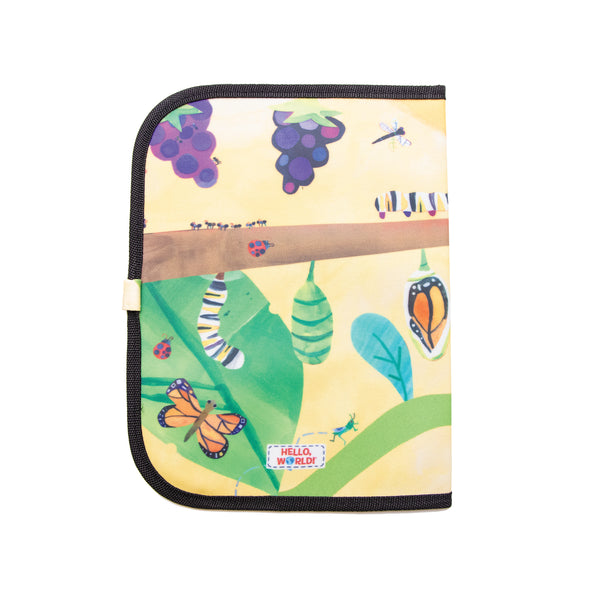 Jaq Jaq Bird x Hello, World! Doodle It & Go erasable mat - Backyard Bugs