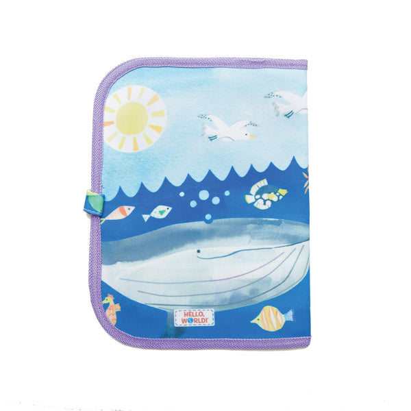 Jaq Jaq Bird x Hello, World! Doodle It & Go erasable mat - Ocean Life