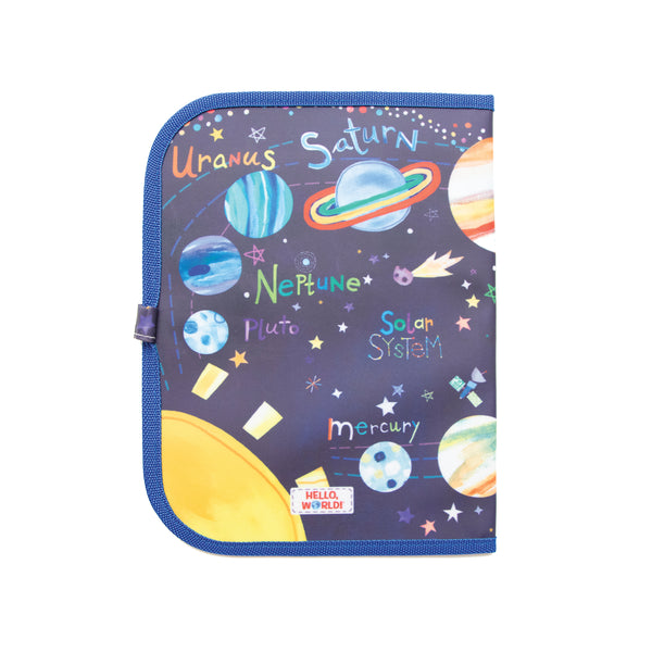 Jaq Jaq Bird x Hello, World! Doodle It & Go erasable mat - Solar System