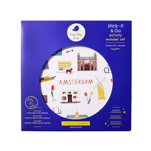 Cities of Wonder Stick It & Go activity set - Amsterdam