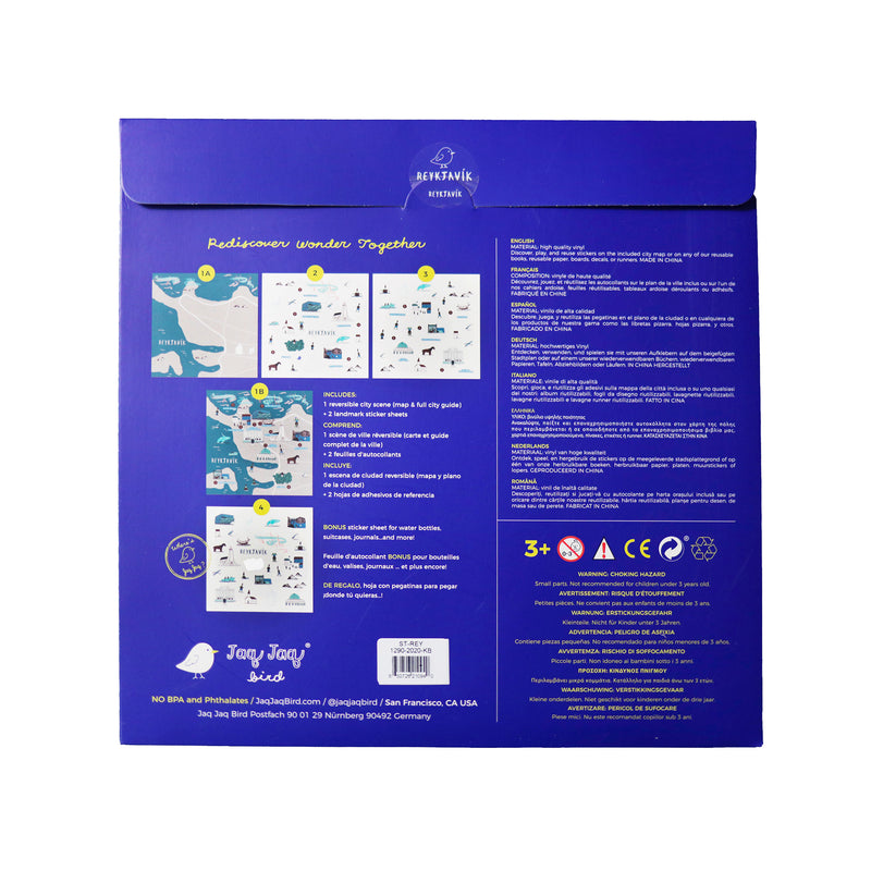 Cities of Wonder Stick It & Go activity set - Reykjavik
