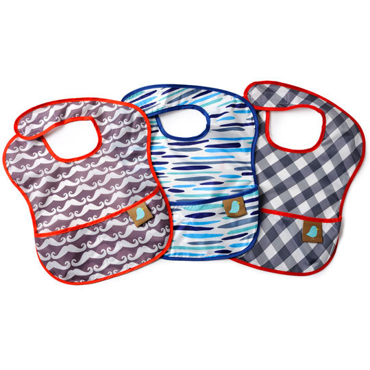 Jaq Jaq Bird | Feeding Bibs Set of 3 Water proof & Stain proof - Jaq Jaq Bird - 2