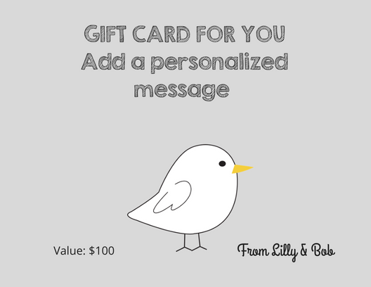 Gift Certificate at Jaq Jaq Bird