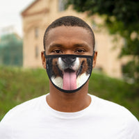 "Mixed-Fabric Face Mask ""Tongue out Tuesday"""