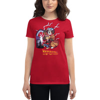 Women's short sleeve t-shirt- Bark to the Future