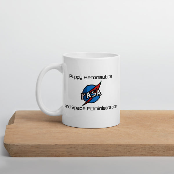 Mug- Space Bunsen- Puppy Aeronautics and Space Administration.