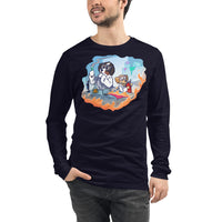 Unisex Long Sleeve Tee- Mad Science