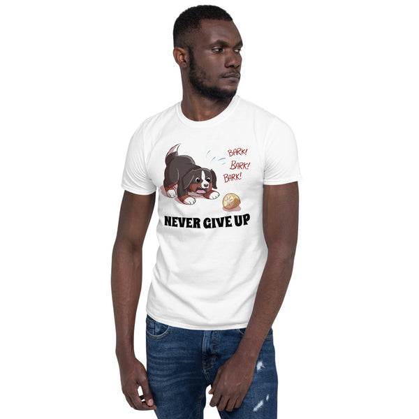 Short-Sleeve Unisex T-Shirt- Baby Bunsen- Never Give Up