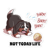 Bubble-free stickers-Baby Bunsen NOT TODAY LIFE!