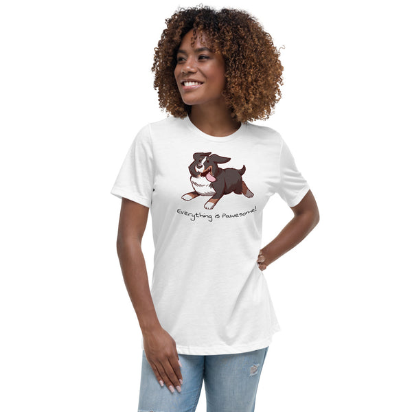 Women's Relaxed T-Shirt- Footloose Bunsen - Everything is Pawesome