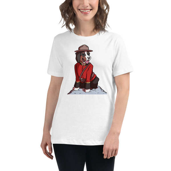 Women's Relaxed T-Shirt- Just Mountie Bunsen