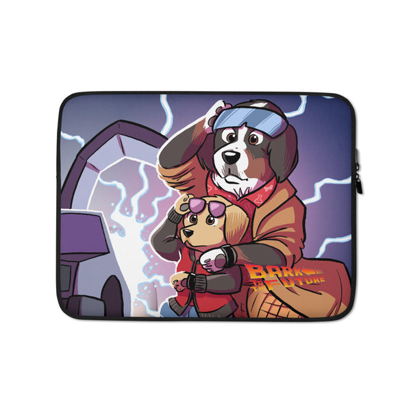 Laptop Sleeve- BARK TO THE FUTURE!
