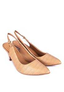 PICCADILLY Women Fashion Pointed Toe Sling Back Heels