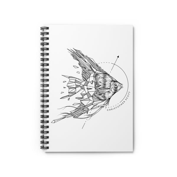 Angel Fish Spiral Notebook - Ruled Line